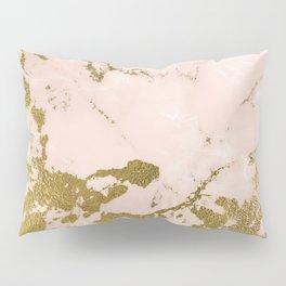 Champagne Blush Marble Pillow Sham