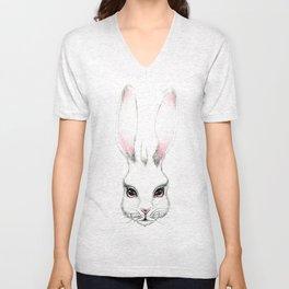 Alice in Wonderland Inspired Hare Pencil Illustration Unisex V-Neck