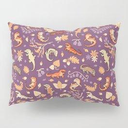 Autumn Geckos in purple Pillow Sham