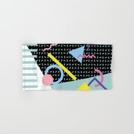 Memphis Pattern 6 - 80s - 90s - Retro Hand & Bath Towel