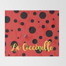 La Coccinelle Throw Blanket