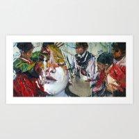 Girl Play (여놀이) Art Print