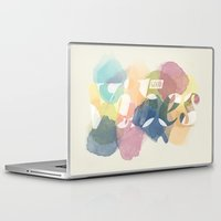 good vibes Laptop & iPad Skins featuring GOOD VIBES by Lasse Egholm