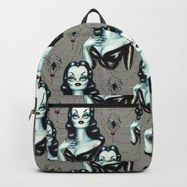 Vampire Vixen with Black Widow Spider Backpack