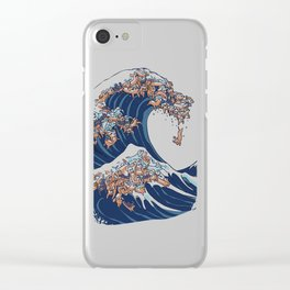 The Great Wave of Dachshunds Clear iPhone Case