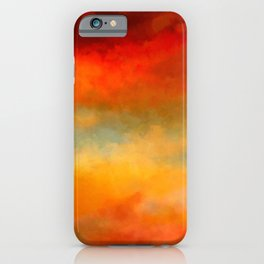Abstract Sunset Digital Painting iPhone Case