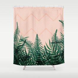 Tropical Ferns on Pink #society6 #decor #buyart Shower Curtain