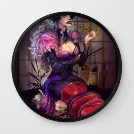 Ephemeral Hostess Girl Wall Clock