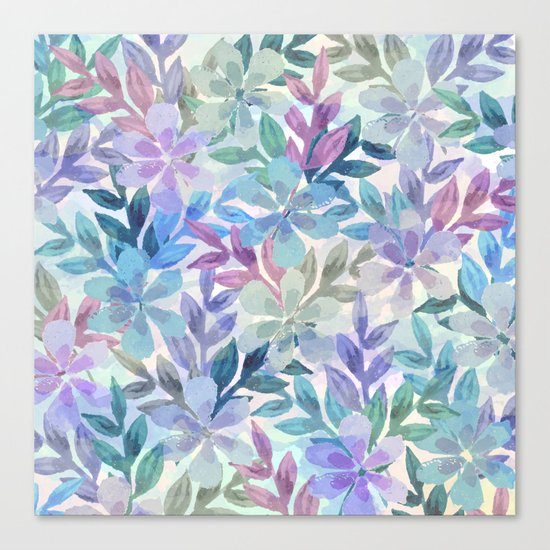watercolor Botanical garden Canvas Print