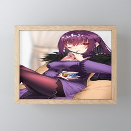anime anime girls digital artwork 2D portrait display vertical Scathach (Fate/Grand Order) Lancer (Fate/Grand Order) Fate/Grand Order Fate Series Jun (artist) skadi(fate/Grand Order) Framed Mini Art Print