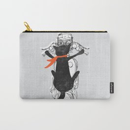 Cat Racer Motorcycle Art Print Carry-All Pouch