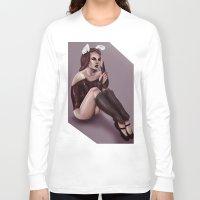 bunny Long Sleeve T-shirts featuring BUNNY  by Enola Jay