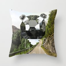 Mind the Bear! Throw Pillow