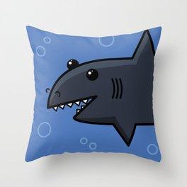 Happy Shark Throw Pillow