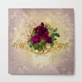 Decadent Velvet Rose Metal Print