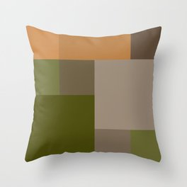 Grid color - Park stair Throw Pillow