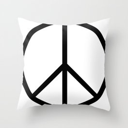 CND Peace Symbol Throw Pillow