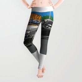 B is for builds  plan A painting Leggings