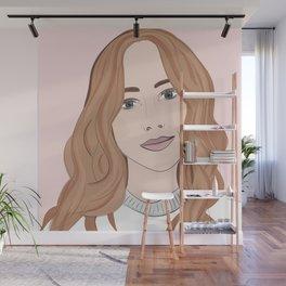 Beautiful Redhead Woman Illustration Wall Mural