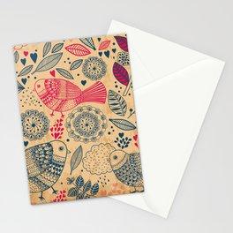 Vintage Flower and Birds Stationery Cards