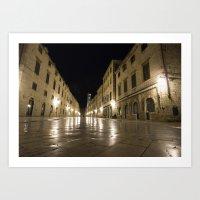 Dubrovnik at Night Art Print