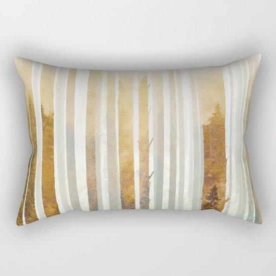 Golden Winter Forest 4 Rectangular Pillow