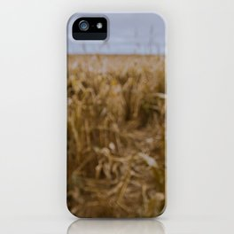 Blur Corn field iPhone Case