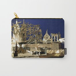 Reading the Newspaper in the Park | Sculpture Photo Carry-All Pouch