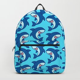Blue Ocean Shark Backpack