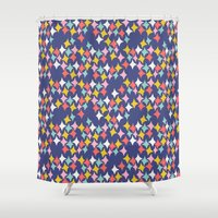 diamonds Shower Curtains featuring Diamonds by heidi kenney