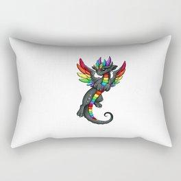 Rainbow Dragon Rectangular Pillow