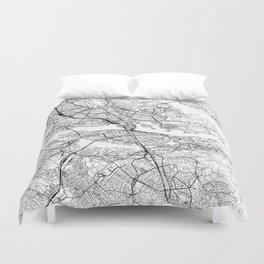 Stockholm White Map Duvet Cover