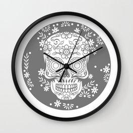 Sugar Skull Calavera design Gift for Mexican Decor Lovers Wall Clock
