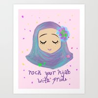 rock your hijab with pride! Art Print