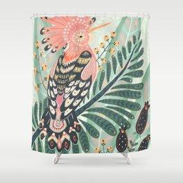 Hoopoe Bird Shower Curtain