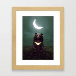 my light in the darkness Framed Art Print