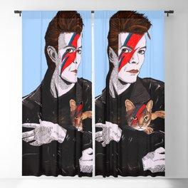 David & The cat Blackout Curtain