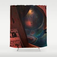 sci fi Shower Curtains featuring Sci-Fi by Lyle Hatch