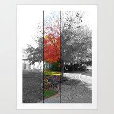 fall at arcadia. Art Print