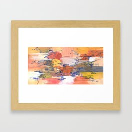 paisaje abstracto Framed Art Print