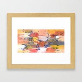 paisaje abstracto Framed Art Print