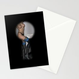 Keyhole Voyeur Topless Female With Boots Stationery Cards