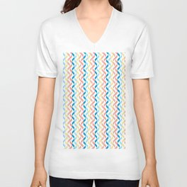 Ordered Peaches by the Sea Unisex V-Neck