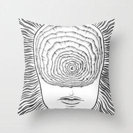 Inward Spiral Throw Pillow