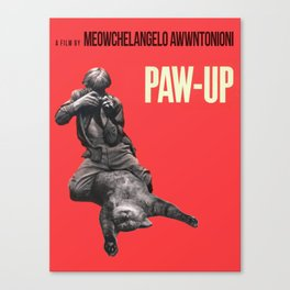 Paw-Up Canvas Print