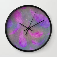 feather Wall Clocks featuring Feather  by LebensART