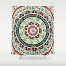Sloth Yoga Medallion Shower Curtain