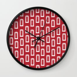 Telephone Kiosk Pattern Wall Clock