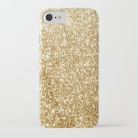 gold glitter iPhone & iPod Cases featuring Gold glitter by Masanori Kai