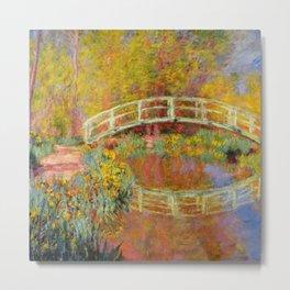"Claude Monet ""The Japanese Bridge at Giverny"" Metal Print"